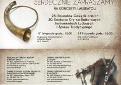 28. Posiady Gawędziarskie oraz 30. Konkurs Gry na Unikatowych Instrumentach Ludowych i Śpiewu Tradycyjnego