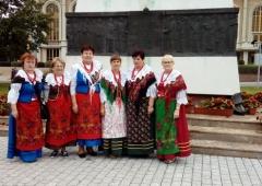 Panie z Koła Gospodyń Wiejskich w Połomi na Ogólnopolskim Zjeździe Kół Gospodyń Wiejskich w Licheniu