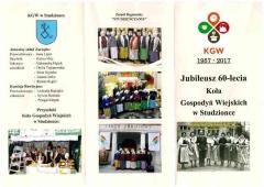 Jubileusz 60-lecia KGW w Studzionce