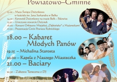 Zaproszenie na Powiatowo-gminne Dożynki w Palowicach