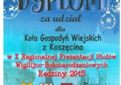 KGW z Koszęcina uczestniczyło w Regiolalnej Prezentacji Stołów Bożonarodzeniowych